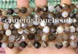 CNG8720 15.5 inches 6mm faceted nuggets agate gemstone beads