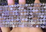 CNG8746 15.5 inches 6mm faceted nuggets grey moonstone beads
