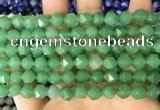 CNG8766 15.5 inches 8mm faceted nuggets green aventurine beads