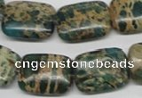 CNI17 16 inches 15*20mm rectangle natural imperial jasper beads wholesale