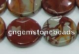 CNJ01 15.5 inches 25mm faceted coin natural noreena jasper beads
