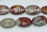 CNJ10 15.5 inches 13*18mm faceted oval natural noreena jasper beads
