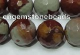CNJ20 15.5 inches 18mm faceted round natural noreena jasper beads