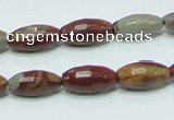 CNJ27 15.5 inches 8*16mm faceted rice natural noreena jasper beads