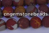 CNJ303 15.5 inches 10mm round matte noreena jasper beads wholesale