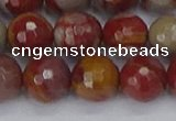 CNJ312 15.5 inches 12mm faceted round noreena jasper beads