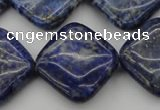 CNL1136 15.5 inches 20*20mm diamond lapis lazuli gemstone beads