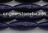 CNL1159 15.5 inches 10*30mm rice lapis lazuli gemstone beads