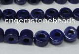CNL1307 15.5 inches 8mm donut natural lapis lazuli beads