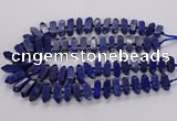 CNL1661 15.5 inches 8*25mm - 10*35mm sticks lapis lazuli beads