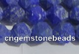 CNL1668 15.5 inches 12mm faceted nuggets matte lapis lazuli beads