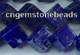 CNL1671 15.5 inches 9*9mm cube lapis lazuli gemstone beads
