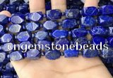 CNL1688 4mm round & 8*12mm - 11*15mm faceted nuggets lapis lazuli beads