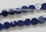 CNL240 15.5 inches 8mm coin natural lapis lazuli beads wholesale