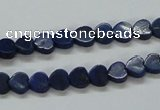 CNL241 15.5 inches 6*6mm heart natural lapis lazuli beads wholesale