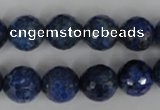 CNL416 15.5 inches 12mm faceted round natural lapis lazuli gemstone beads