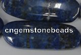 CNL490 15.5 inches 18*50mm oval natural lapis lazuli gemstone beads