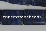 CNL546 15.5 inches 18*25mm flat tube natural lapis lazuli gemstone beads