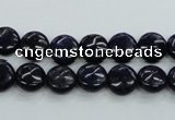 CNL922 15.5 inches 8mm flat round natural lapis lazuli gemstone beads