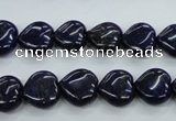 CNL932 15.5 inches 12*12mm heart natural lapis lazuli gemstone beads