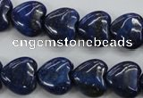 CNL933 15.5 inches 14*14mm heart natural lapis lazuli gemstone beads