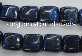 CNL962 15.5 inches 12*12mm square natural lapis lazuli gemstone beads