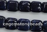 CNL963 15.5 inches 14*14mm square natural lapis lazuli gemstone beads