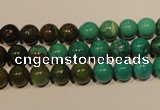 CNT103 15.5 inches 7mm round natural turquoise beads wholesale