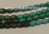 CNT115 15.5 inches 4*6mm teardrop natural turquoise beads wholesale