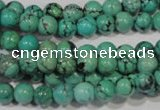CNT206 15.5 inches 6mm round natural turquoise beads wholesale