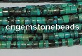CNT217 15.5 inches 2.5*3mm heishi natural turquoise beads wholesale