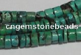 CNT220 15.5 inches 3*7mm – 5*9mm heishi natural turquoise beads