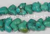 CNT232 15.5 inches 10*16mm animal natural turquoise beads wholesale