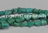 CNT236 15.5 inches 7*9mm bone natural turquoise beads wholesale