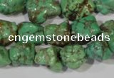 CNT246 15.5 inches 12*14mm - 14*16mm nuggets natural turquoise beads