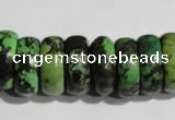 CNT250 15.5 inches 8*24mm rondelle natural turquoise beads wholesale