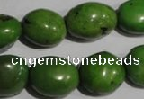 CNT255 15.5 inches 15*17mm nuggets natural turquoise beads wholesale