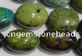 CNT258 15.5 inches 17*23mm nuggets natural turquoise beads wholesale