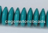 CNT28 16 inches 7*24mm rondelle natural turquoise beads wholesale