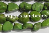 CNT280 15.5 inches 8*10mm - 12*14mm nuggets natural turquoise beads