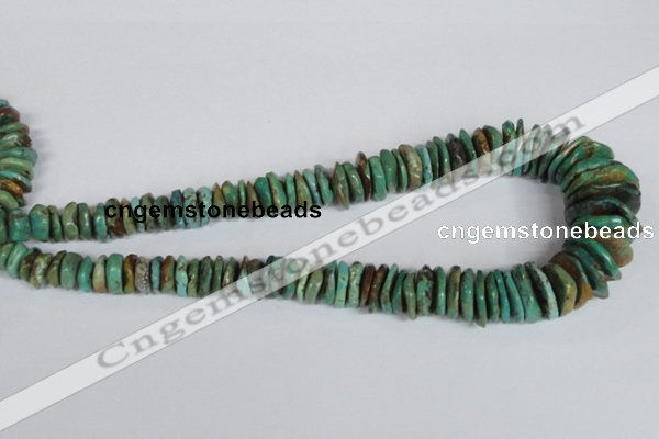 CNT30 16 inches multi-size natural turquoise chip beads wholesale