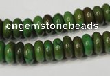 CNT366 15.5 inches 5*10mm rondelle turquoise beads wholesale