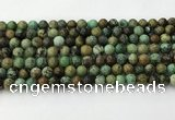 CNT410 15.5 inches 6mm round natural turquoise beads wholesale