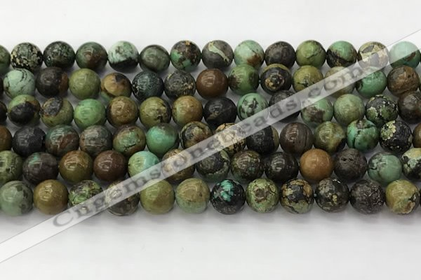 CNT411 15.5 inches 8mm round natural turquoise beads wholesale