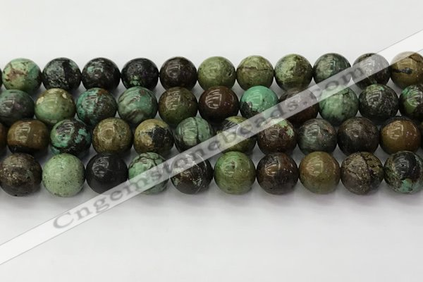 CNT413 15.5 inches 12mm round natural turquoise beads wholesale
