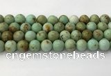 CNT419 15.5 inches 12mm round mongolian turquoise beads wholesale