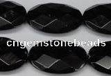 CON68 15.5 inches 20*30mm faceted oval black onyx gemstone beads
