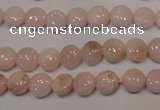 COP1011 15.5 inches 8mm flat round natural pink opal gemstone beads