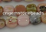 COP1298 15.5 inches 10*10mm square natural pink opal beads