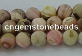 COP1331 15.5 inches 6mm round matte natural pink opal gemstone beads